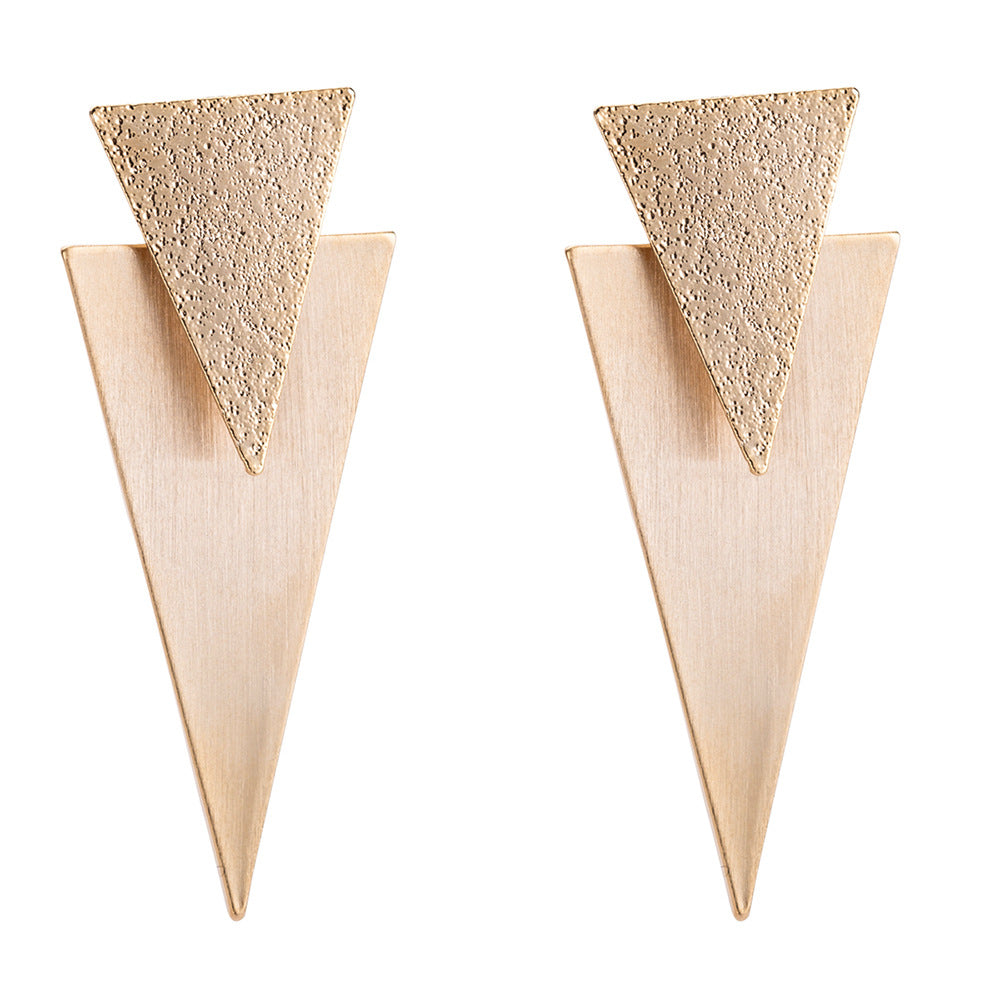 Katydid Wholesale Brushed Metal Triangle Earrings