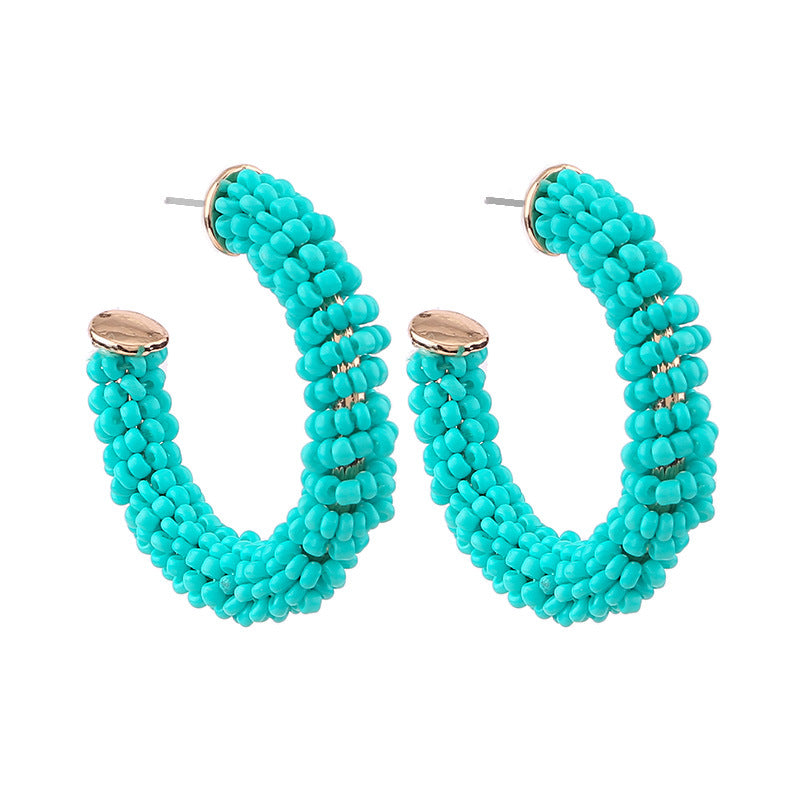 Katydid Wholesale Seed Beaded Hoop Earrings