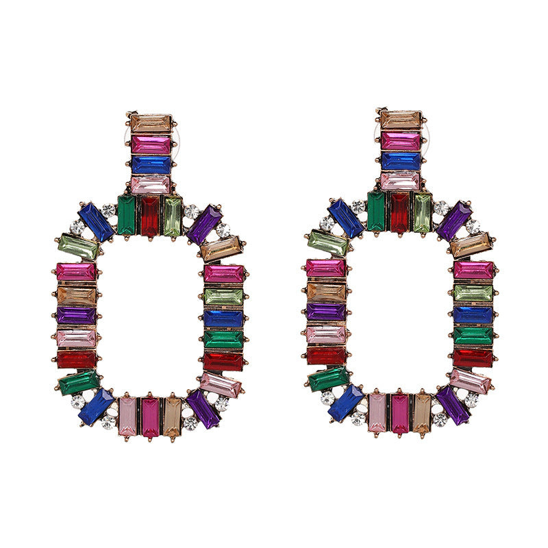 Katydid Wholesale Multicolor Rectangle Drop Earrings