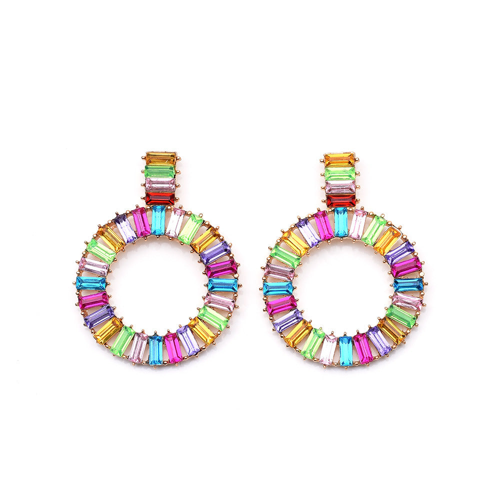Katydid Wholesale Crystal Circular Earrings