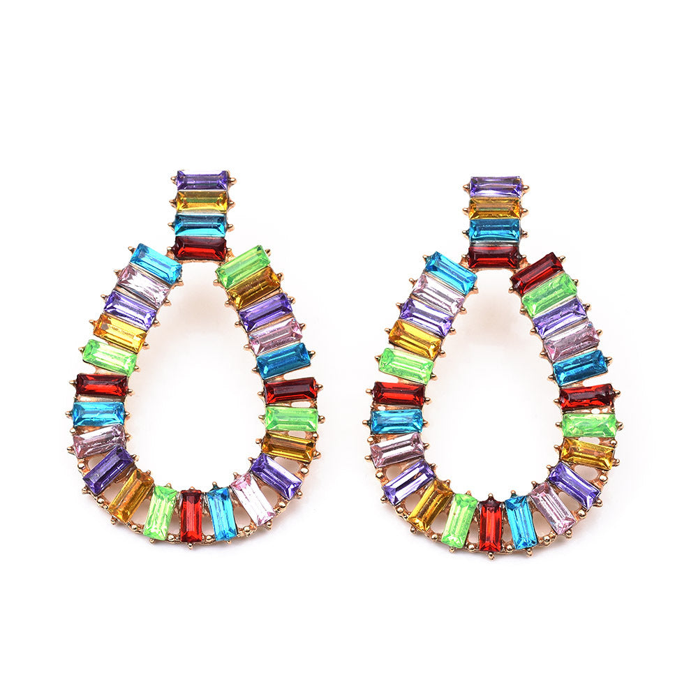 Katydid Wholesale Multicolor Crystal Oval Earrings