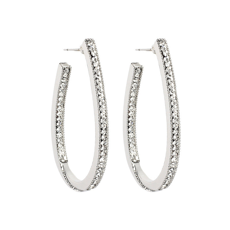 Katydid Wholesale Diamond Hoop Earrings