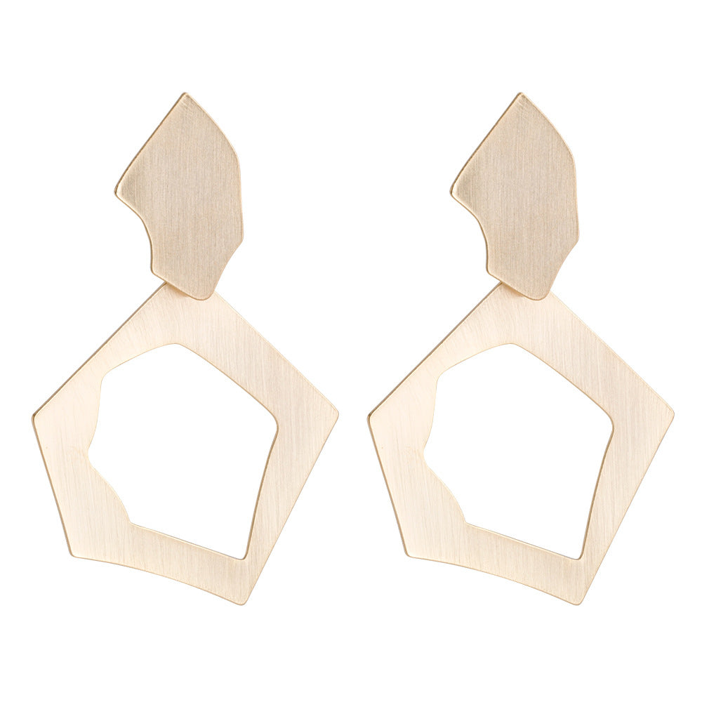 Katydid Wholesale Flat Brushed Metal Earrings