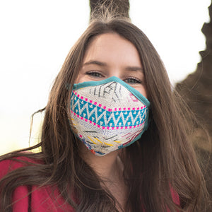Teal Fabric Wholesale Face Masks