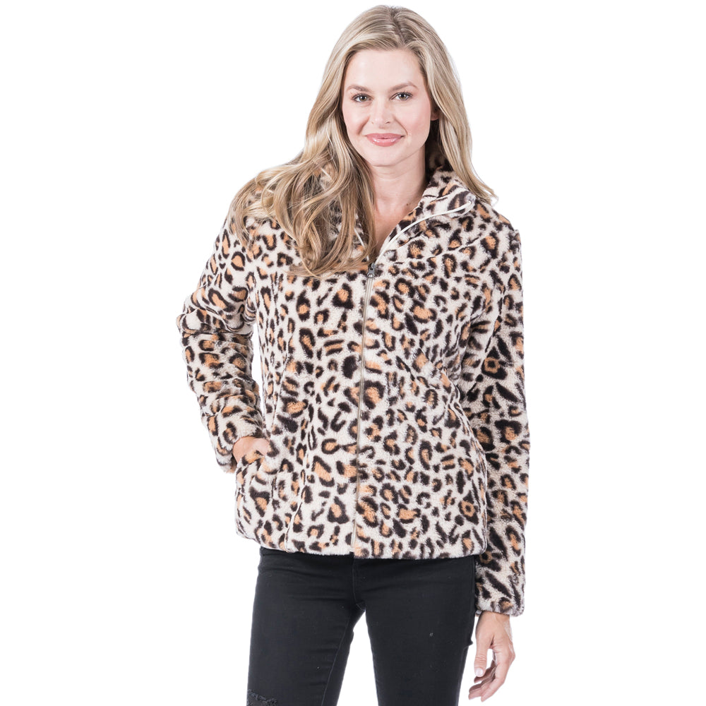 Katydid Wholesale Fur Leopard Jackets
