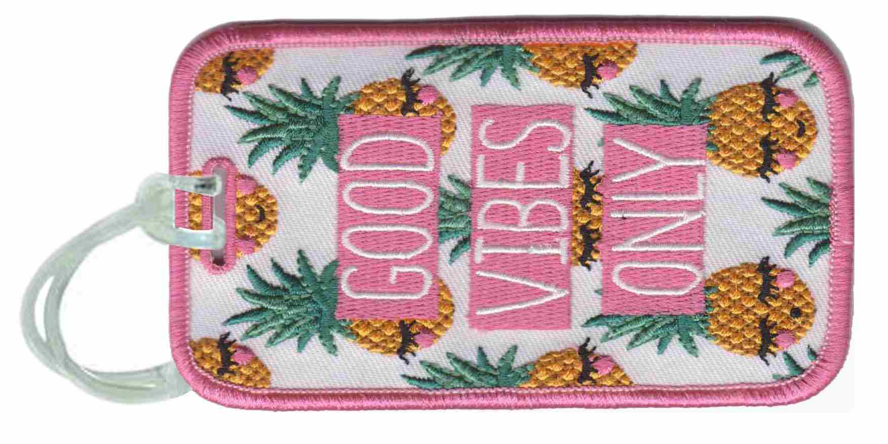 Good Vibes PINEAPPLE Wholesale Luggage Tags