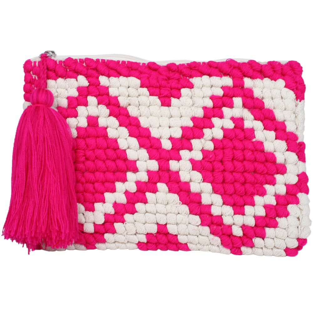 Katydid Wholesale Pocketbook/Clutch Purse - Pink/White
