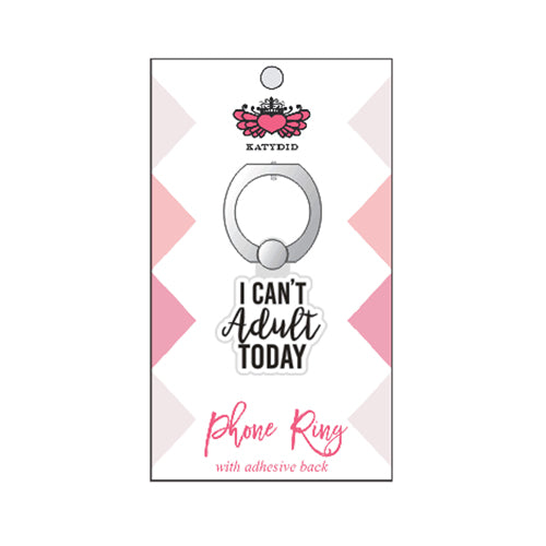 Katydid I Can't Adult Today Wholesale Phone Ring Holder & Stand