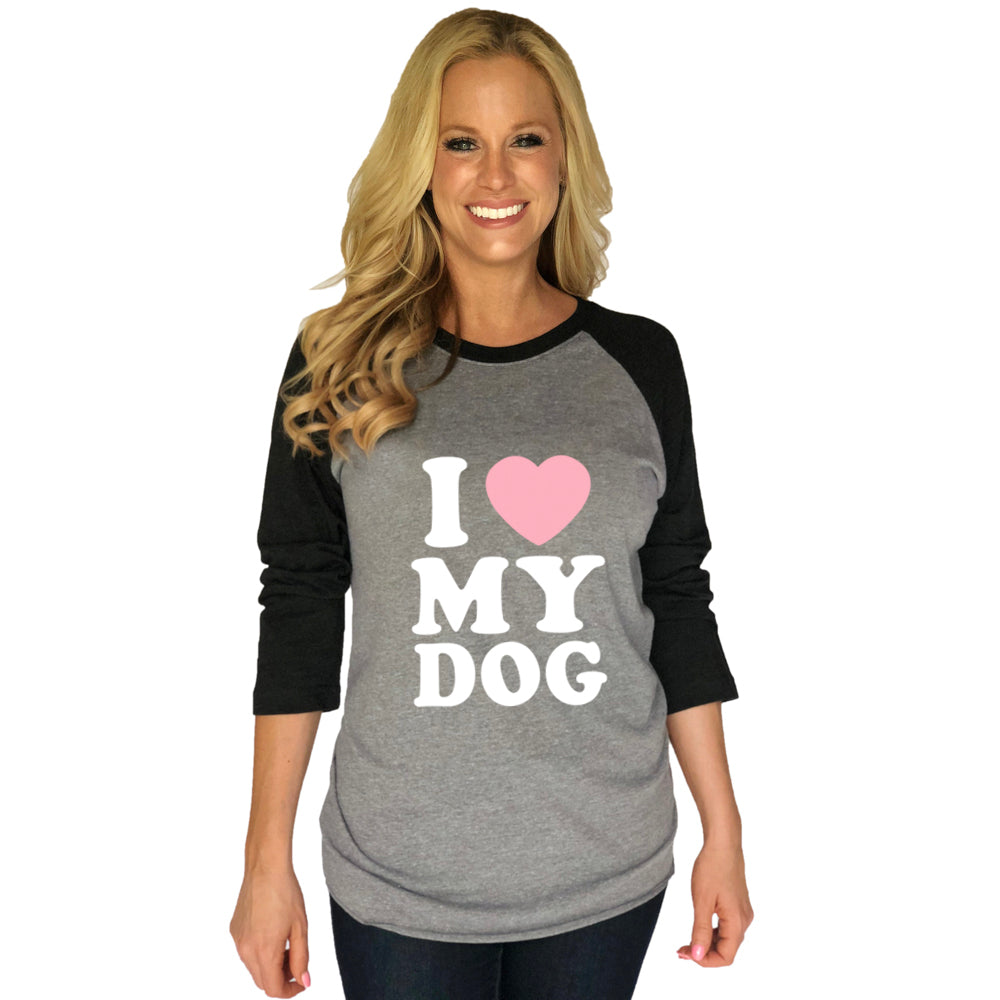 Katydid I Love My Dog Wholesale Raglan T-Shirts