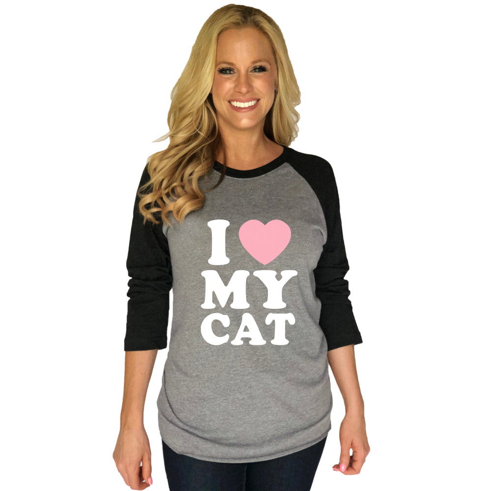 Katydid I Love My Cat Wholesale Raglan T-Shirts