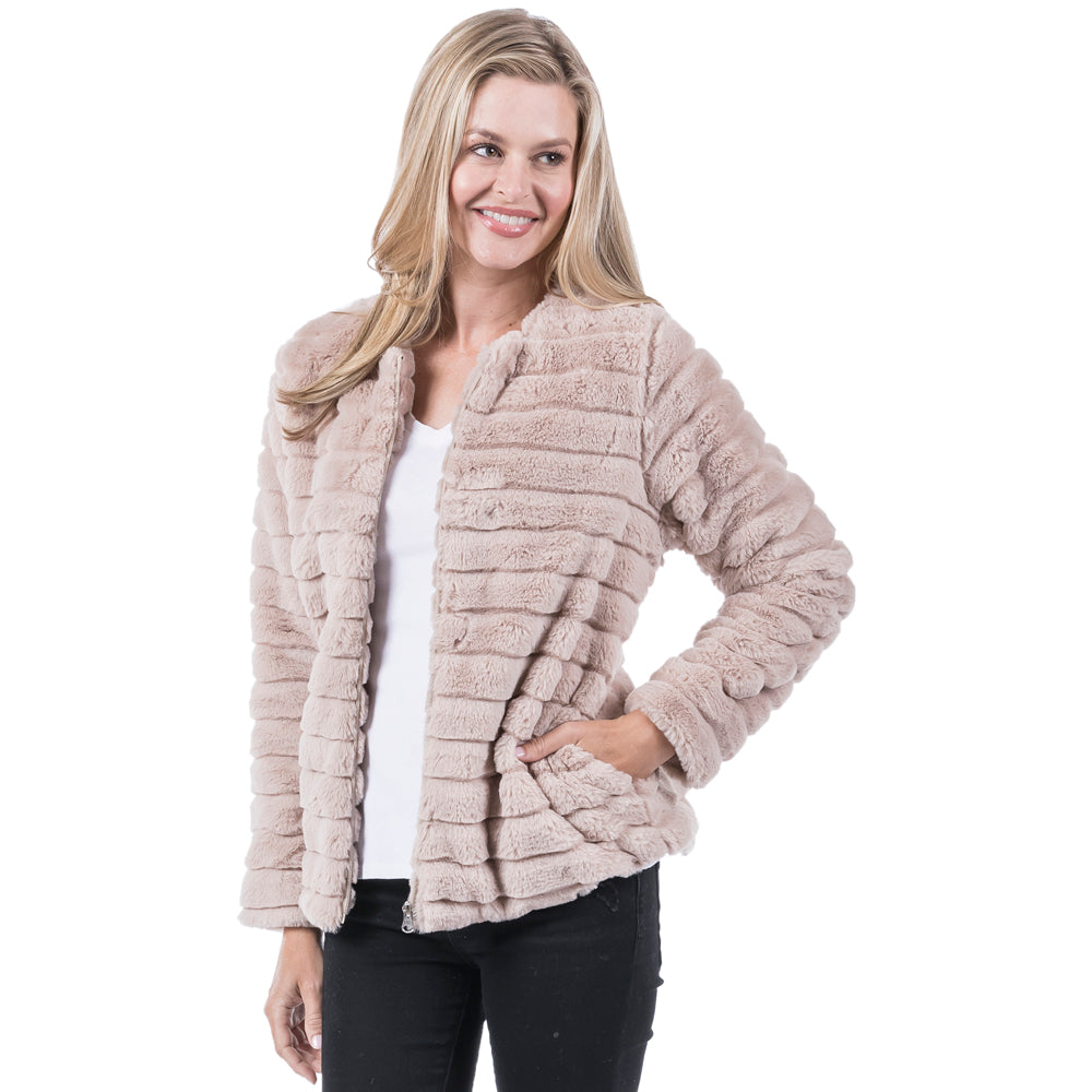 BLOWOUT: Katydid Wholesale FAUX RABBIT JACKET for Women