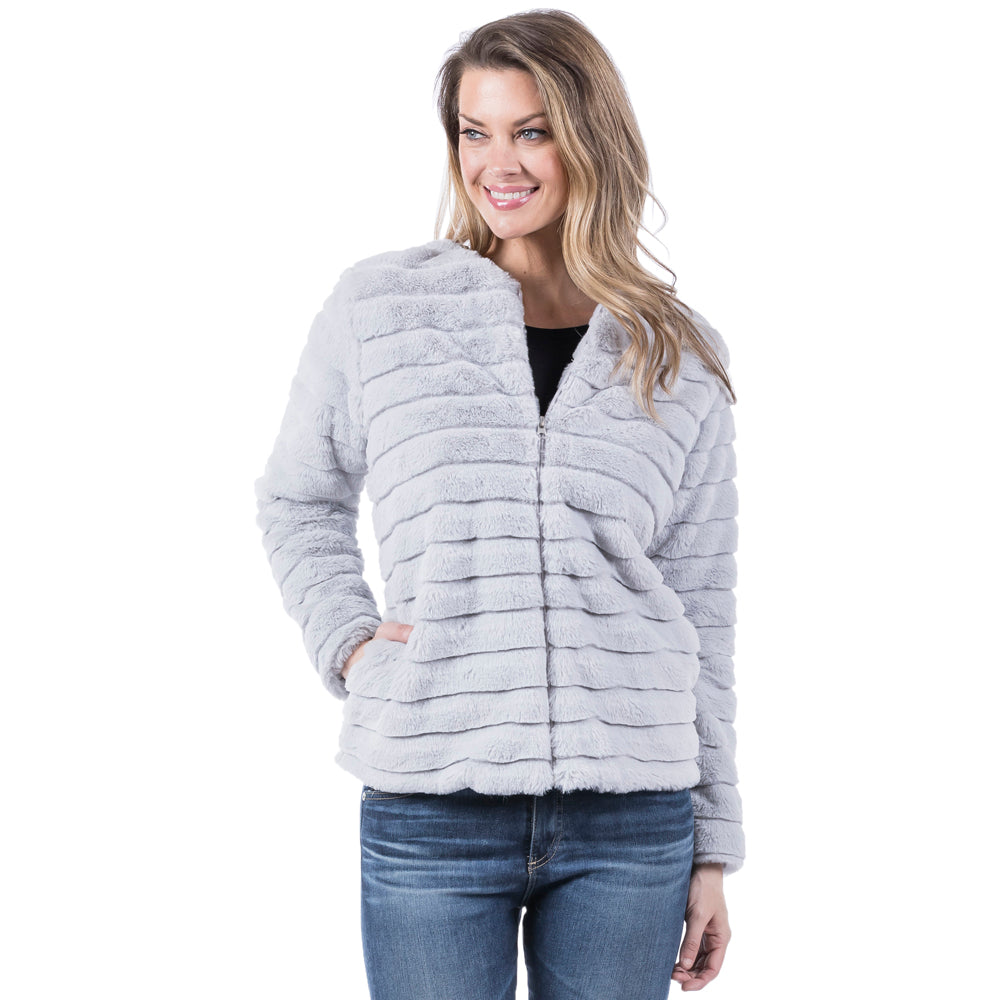 Katydid Wholesale FAUX RABBIT JACKET for Women