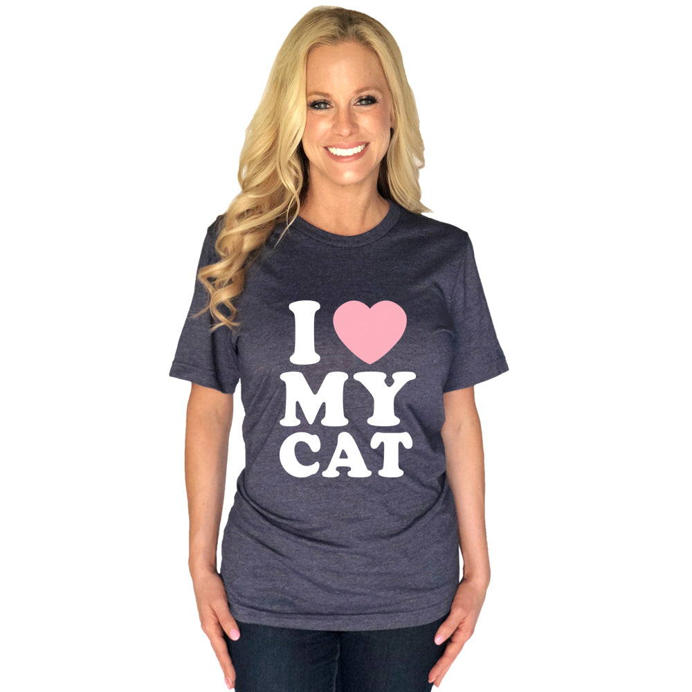 I Love My Cat Wholesale T-Shirts