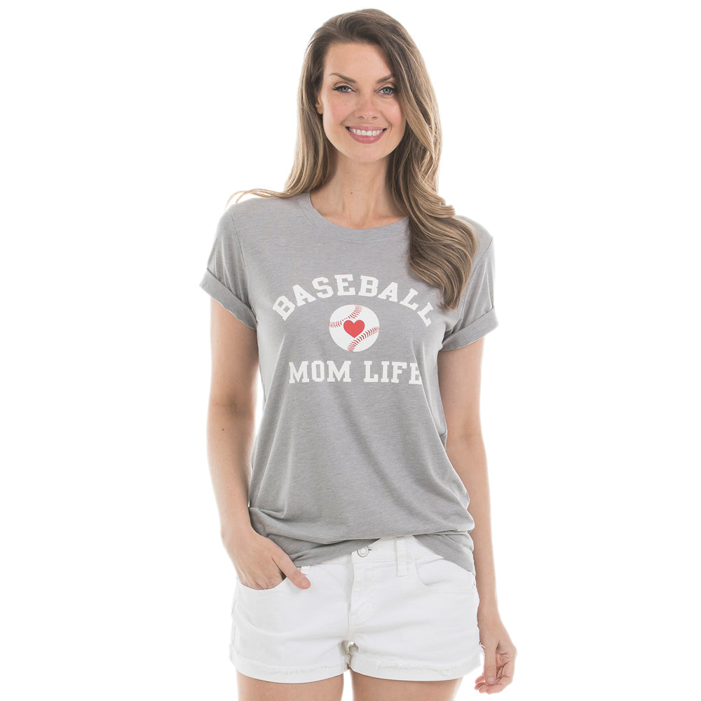 Katydid Baseball Mom Life T-Shirts