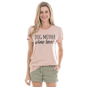 Dog Mother Wine Lover Wholesale T-Shirts