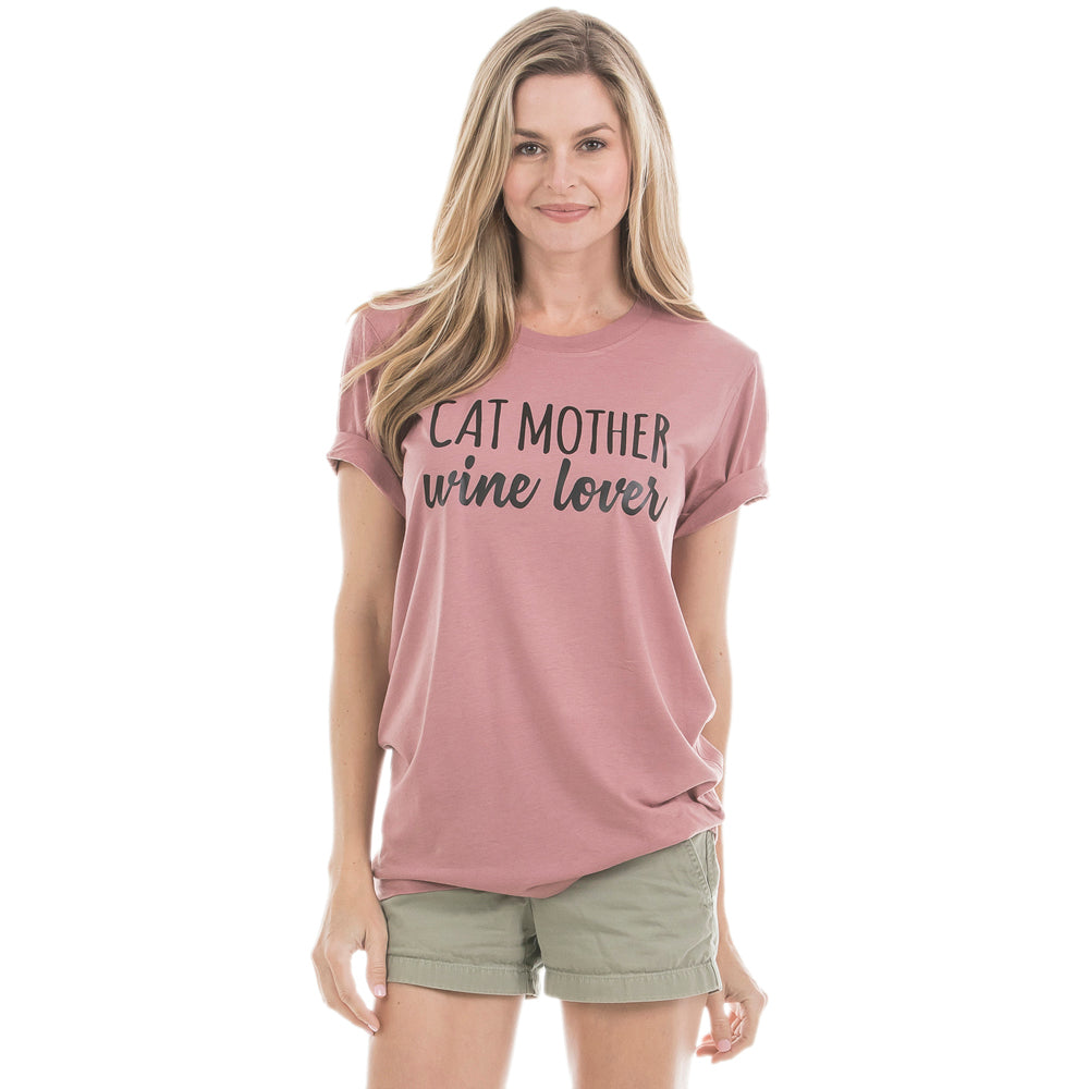 Cat Mother Wine Lover Wholesale T-Shirts