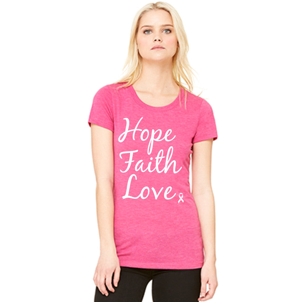 Katydid Hope Faith Love Wholesale Pink Ribbon T-Shirts