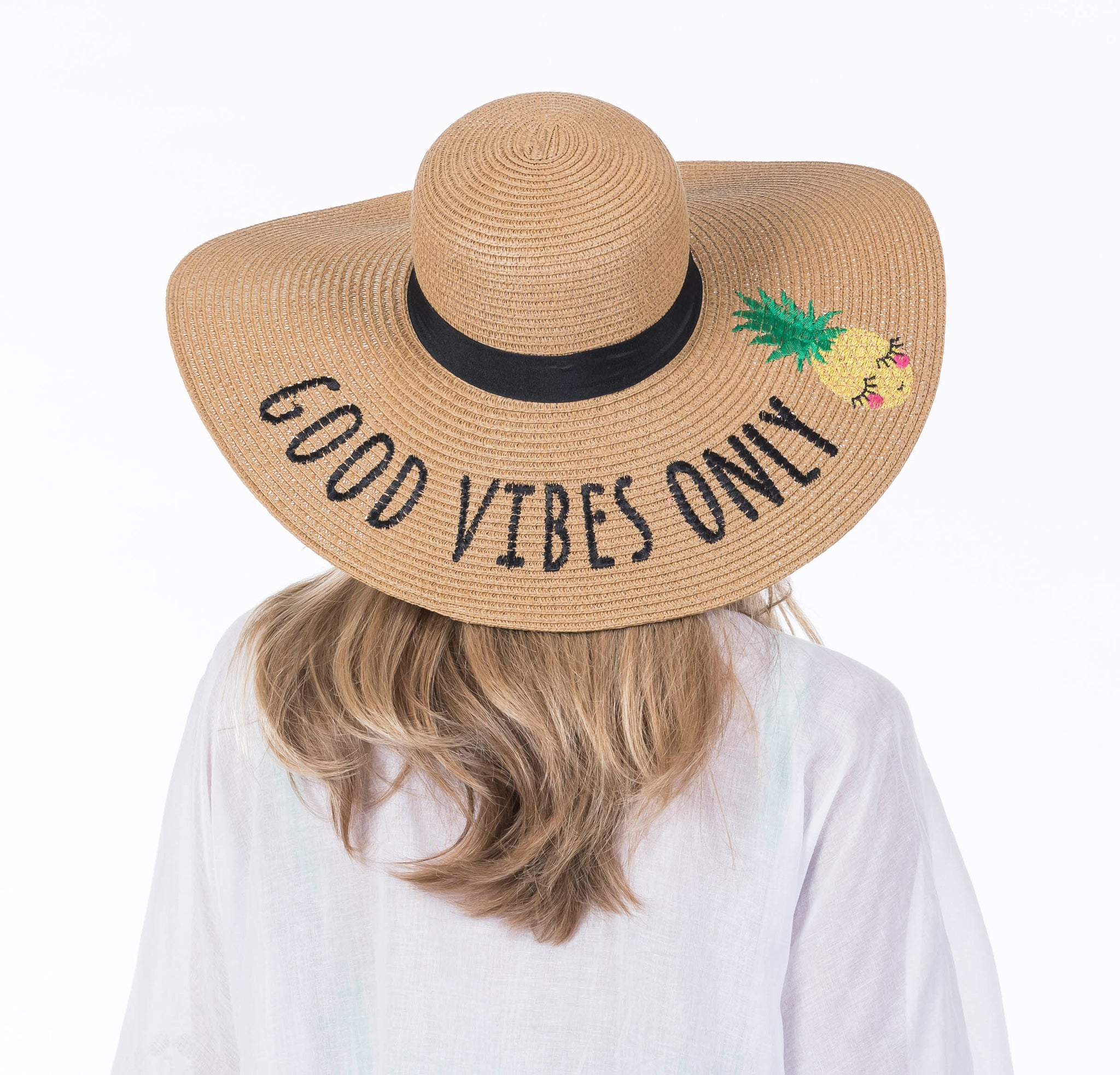Good Vibes Only Wholesale Sun Hats for Women