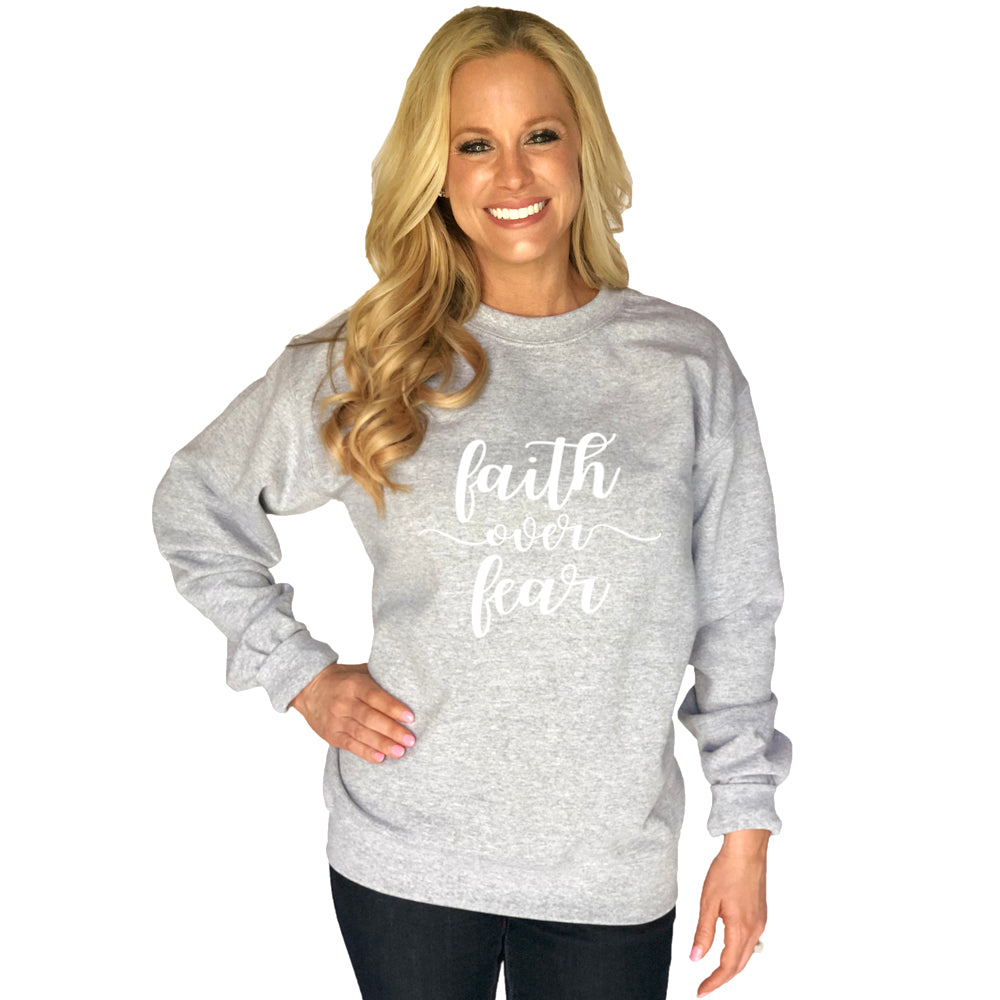 Katydid Faith Over Fear Wholesale Sweatshirt