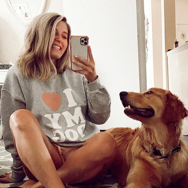 I Love My Dog Wholesale Sweatshirt