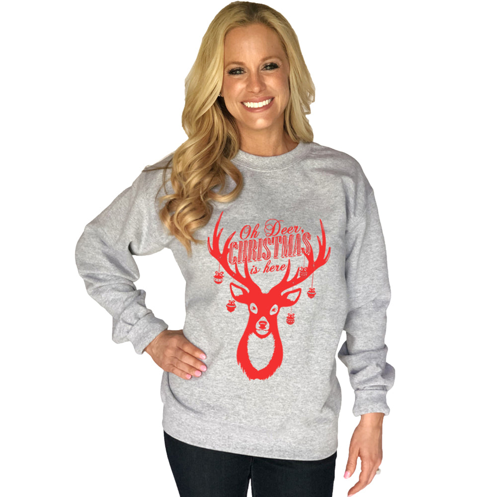 Katydid O Deer Christmas Is Here Wholesale Sweatshirt