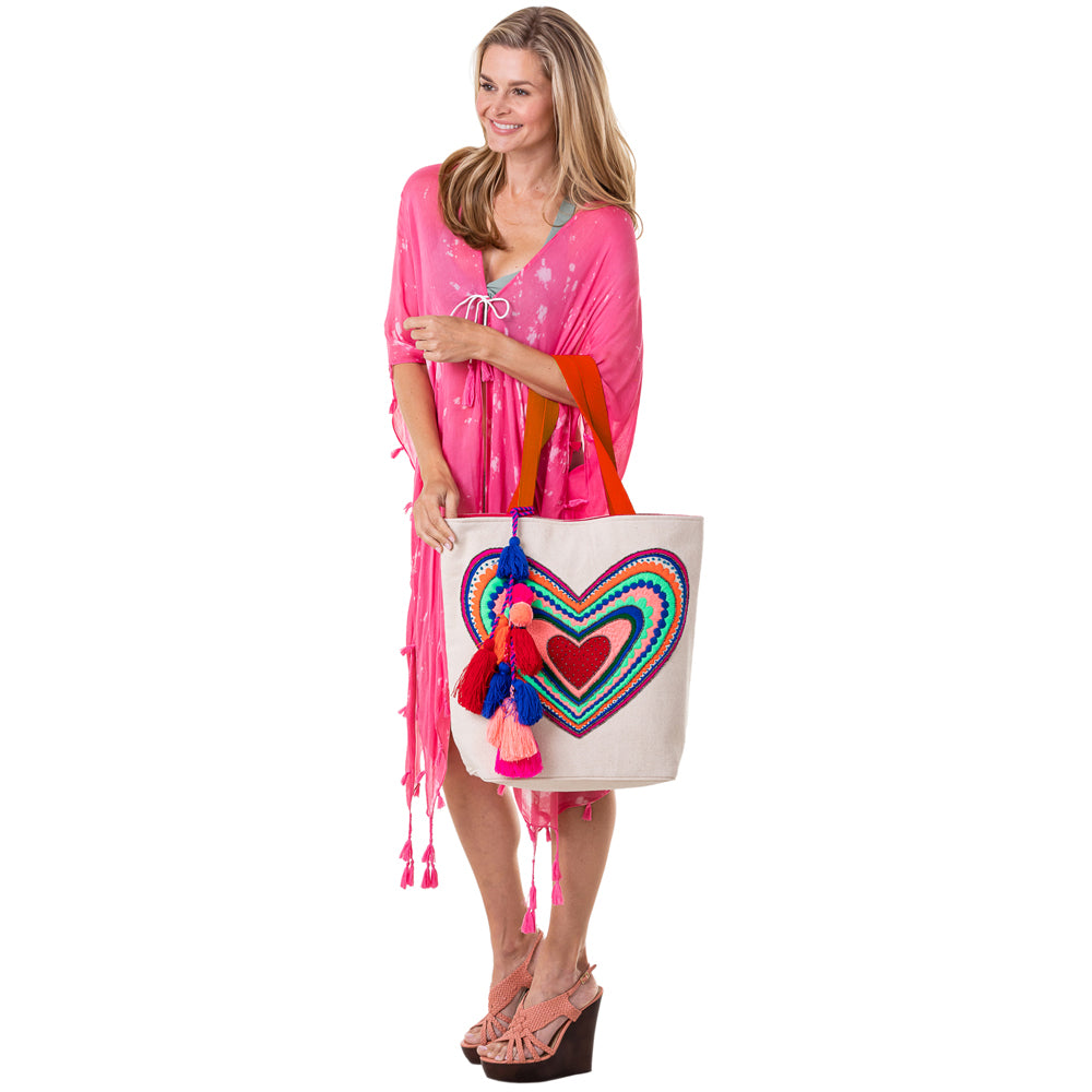 Katydid Heart Wholesale Handbags or Beach Bag