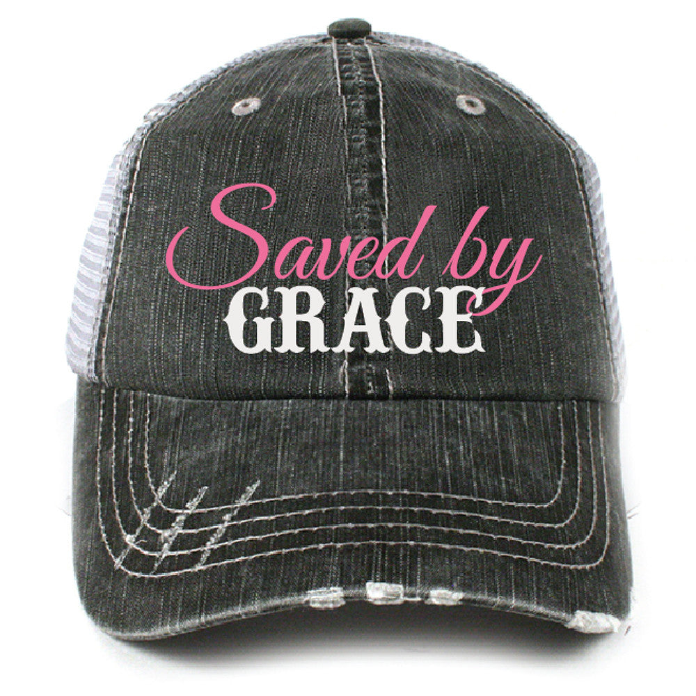 Katydid Saved by Grace Christian Wholesale Trucker Hats