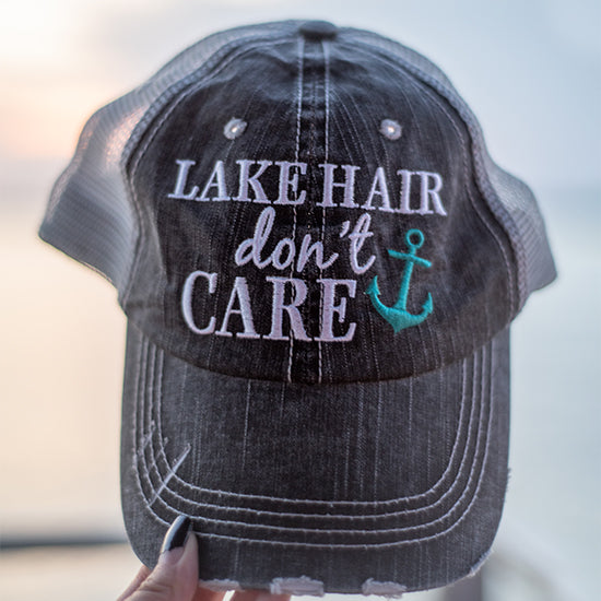 Lake Hair Don't Care Wholesale Trucker Hats 1