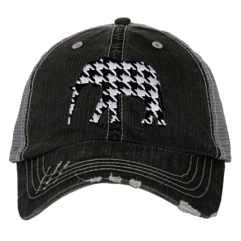 Katydid Houndstooth Bama Elephant Wholesale Trucker Hat