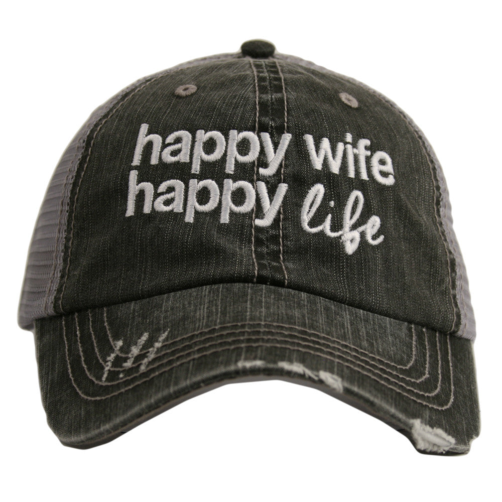 Katydid Happy Wife Happy Life Wholesale Trucker Hats