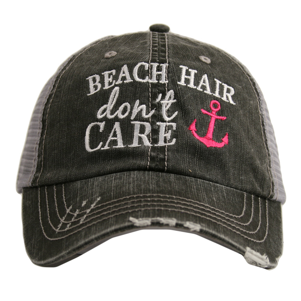 Beach Hair Don't Care with Anchor Wholesale Trucker Hat
