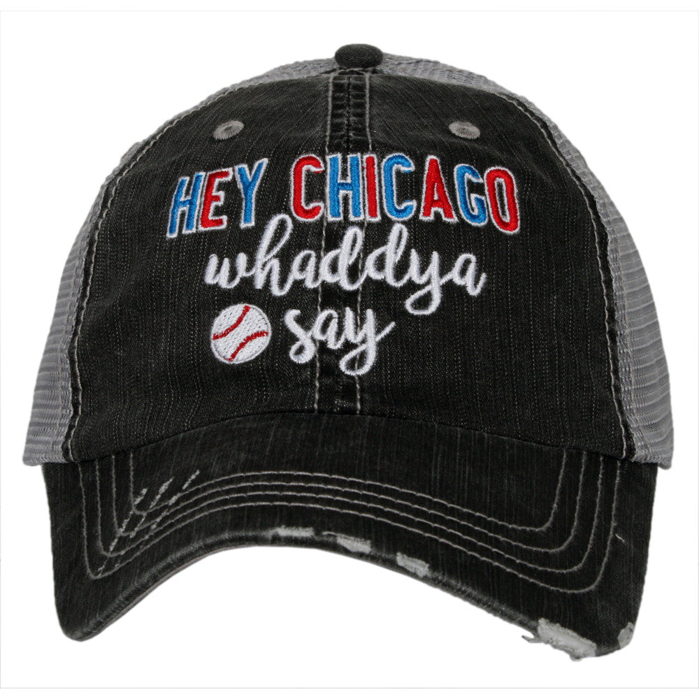 Katydid Hey Chicago Whaddya Say Wholesale Trucker Hats -  KatydidWholesale.com 262bb29ca54