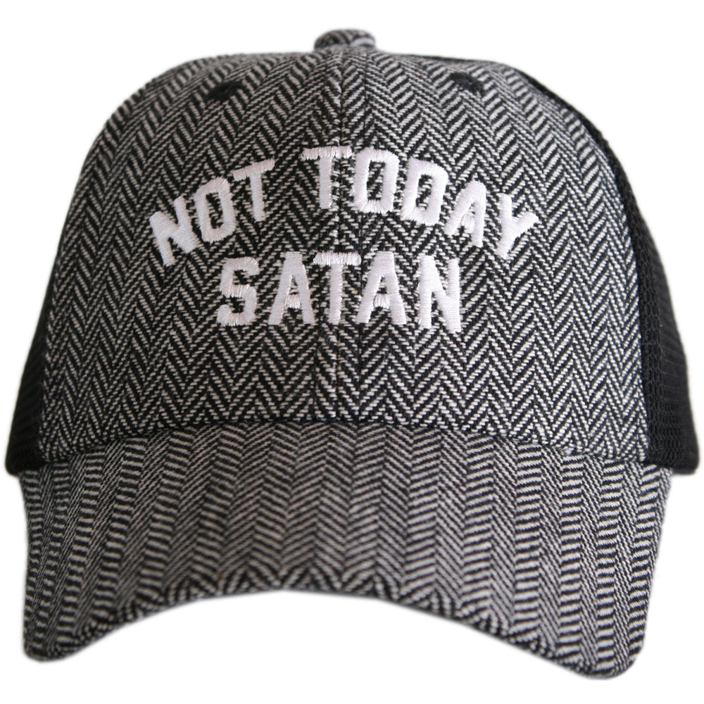 Katydid Not Today Satan HERRINGBONE Trucker Hats