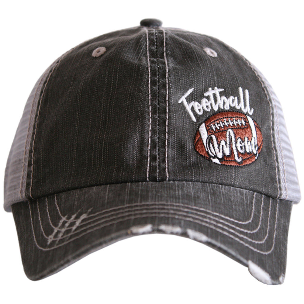 Katydid Football Mom Side Patch Wholesale Trucker Hats -  KatydidWholesale.com 92670521abf