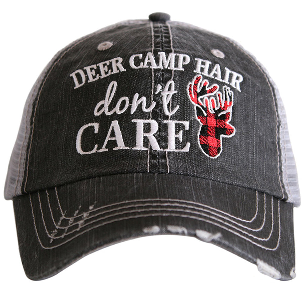 Katydid Deer Camp Hair Don't Care Wholesale Trucker Hats
