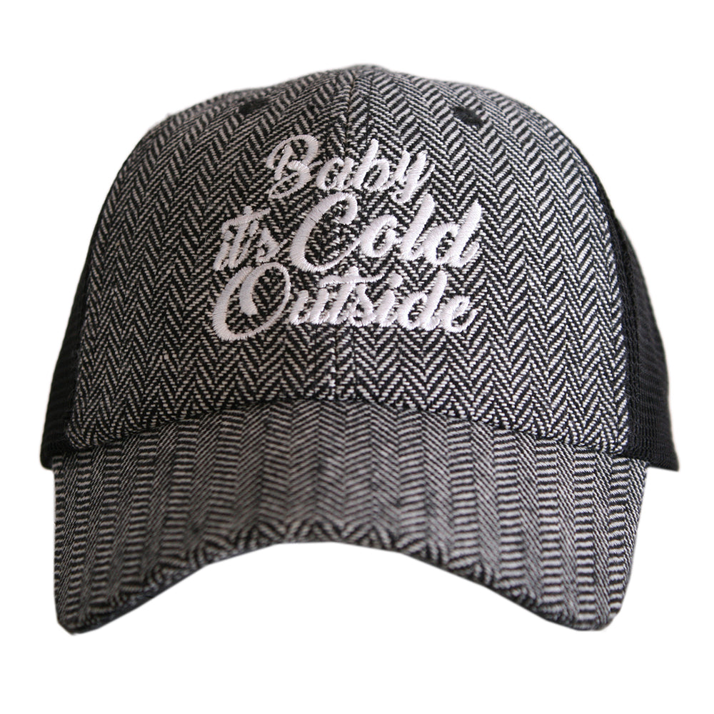 Katydid Baby It's Cold Outside HERRINGBONE Trucker Hats