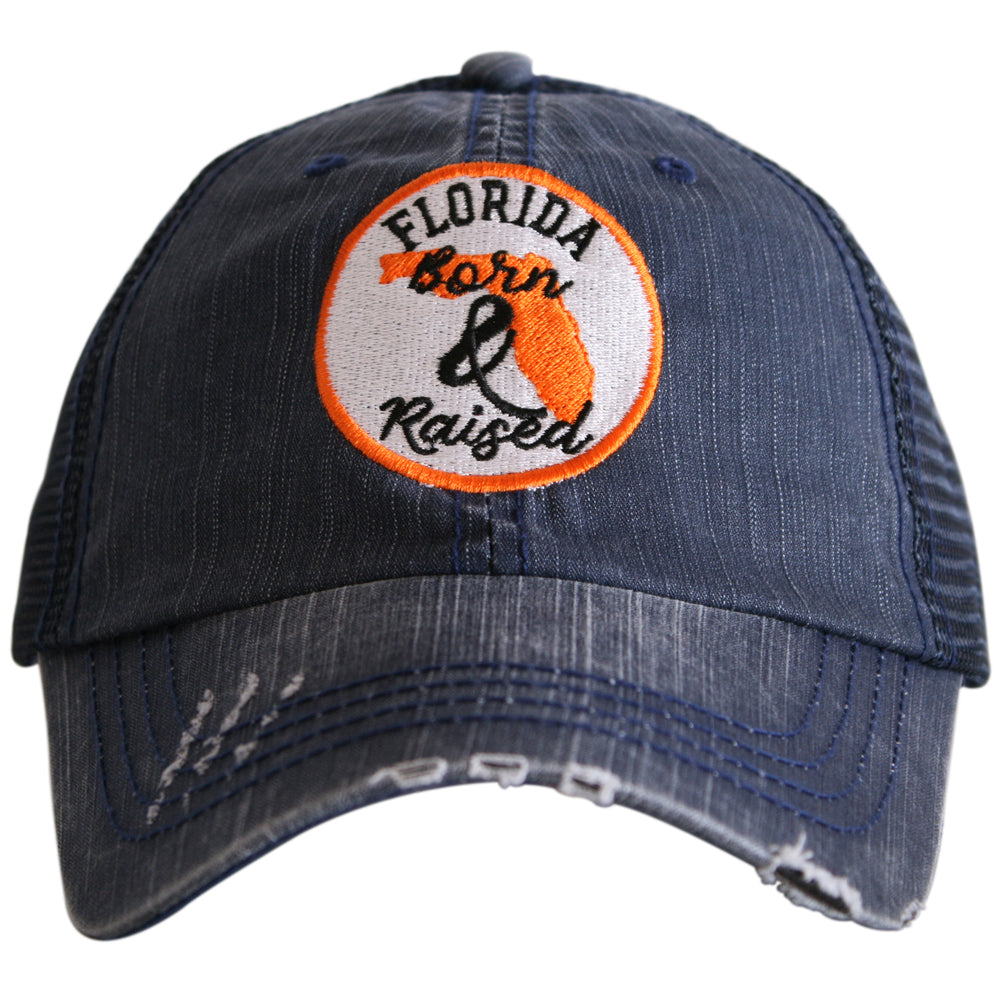 Katydid Florida Born and Raised (Circle Design) Trucker Hat