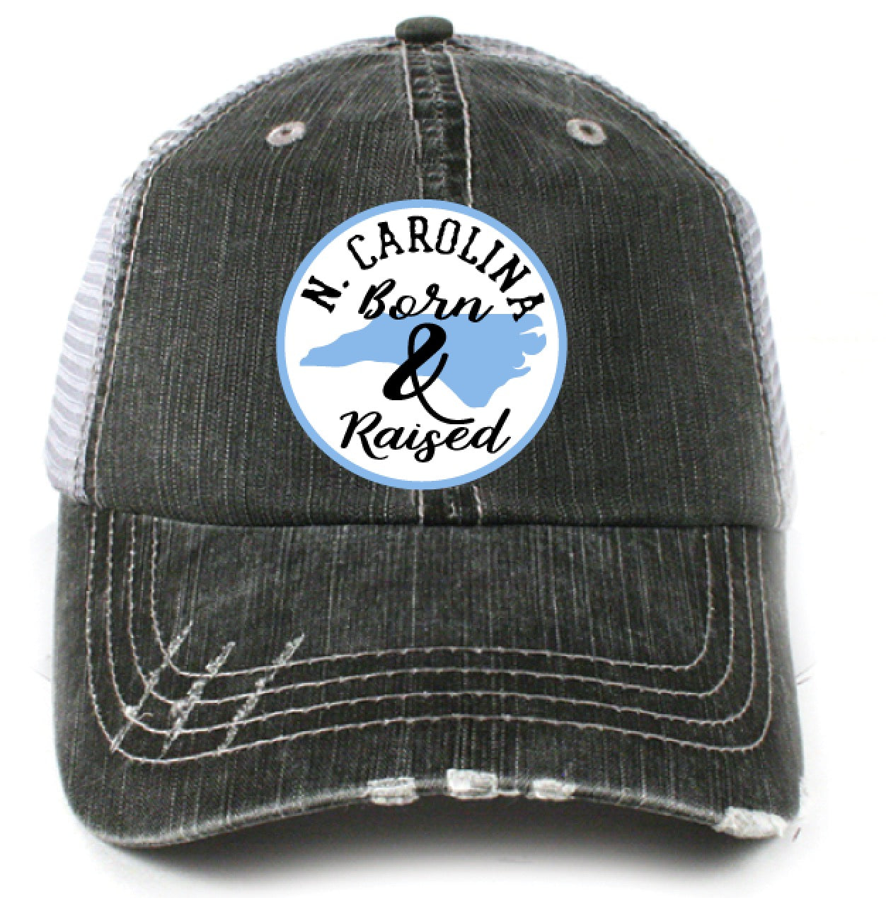 Katydid North Carolina Born and Raised (Circle Design) Trucker Hat