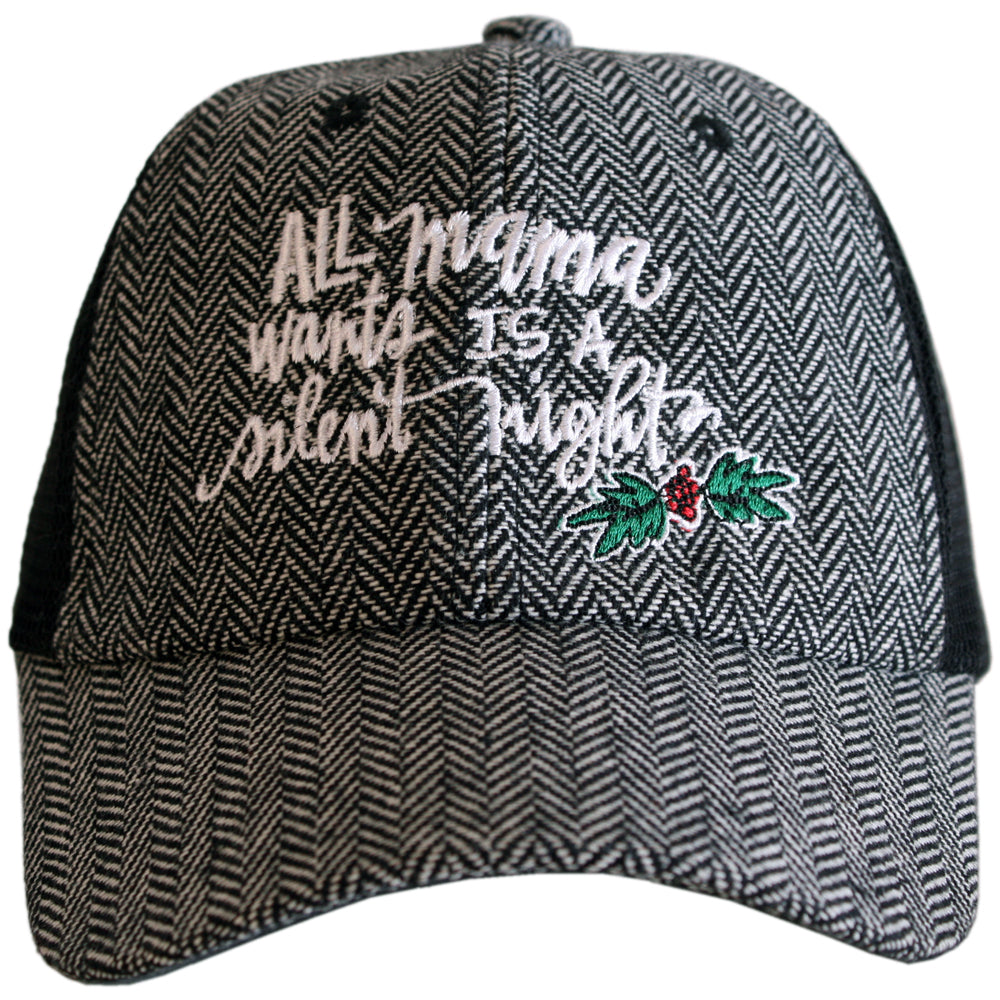 Katydid All Mama Wants Is A Silent Night Wholesale Herringbone Hats