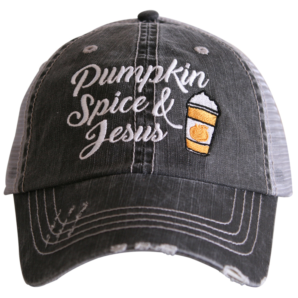 Katydid Pumpkin Spice and Jesus Wholesale Trucker Hats