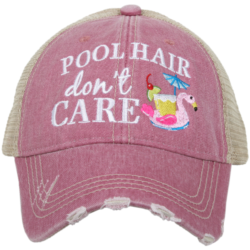 Katydid Pool Hair Don't Care SWAN FLOAT Wholesale Trucker Hats