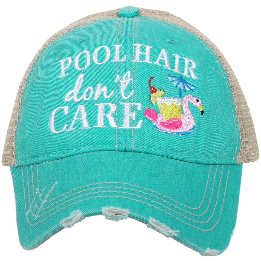 Pool Hair Don't Care (SWAN FLOAT) Wholesale Trucker Hats