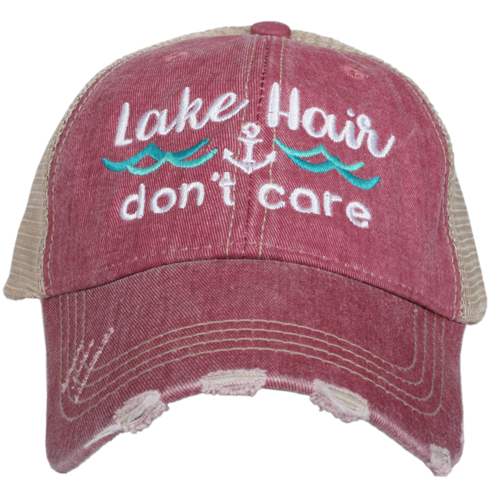 Lake Hair Don't Care Wave Trucker Hat