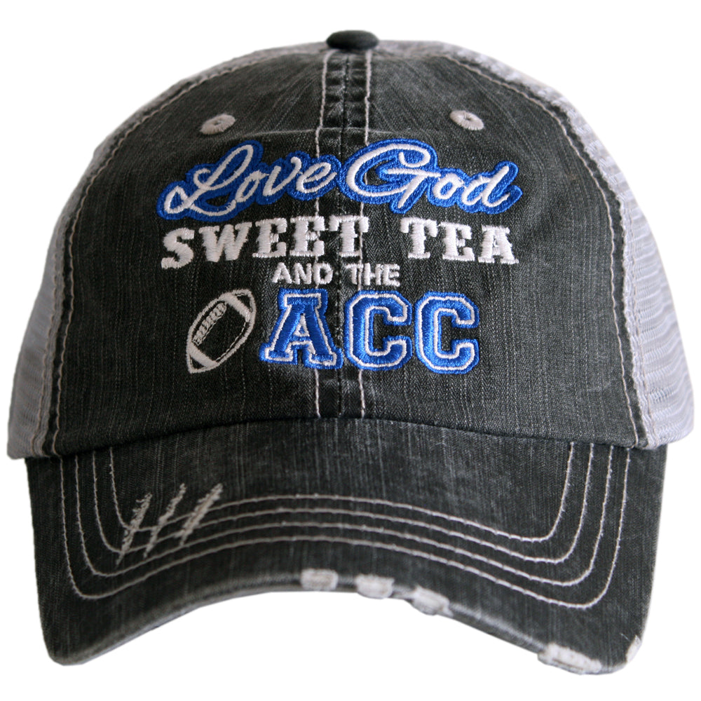 Love God Sweet Tea And The ACC Football Wholesale Trucker Hats