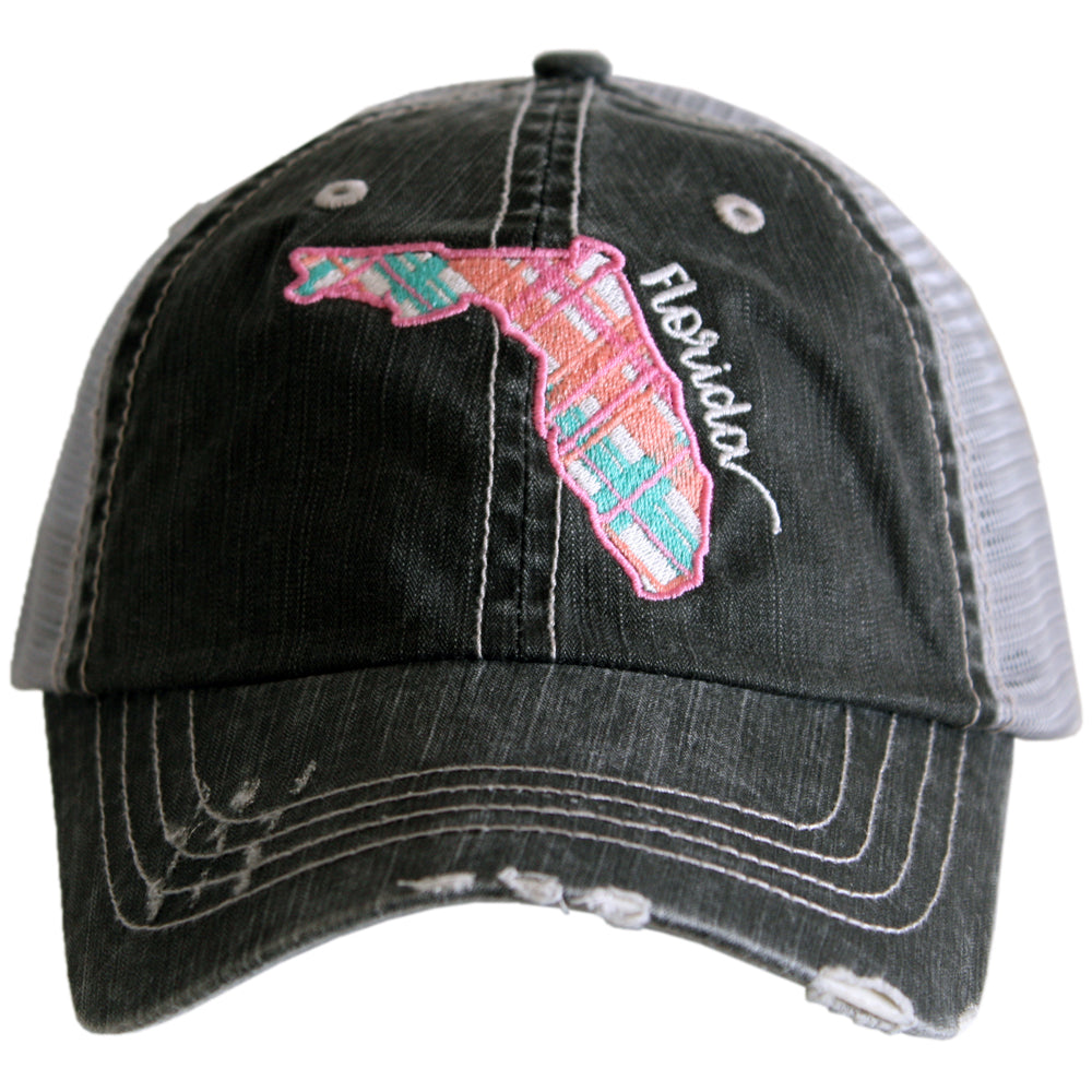 Katydid Florida Pastel Plaid Wholesale Trucker Hats