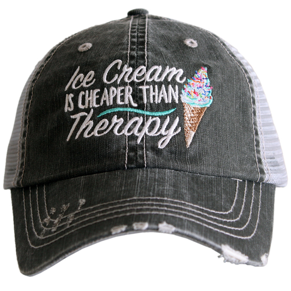 Katydid Ice Cream Is Cheaper Than Therapy Wholesale Trucker Hats