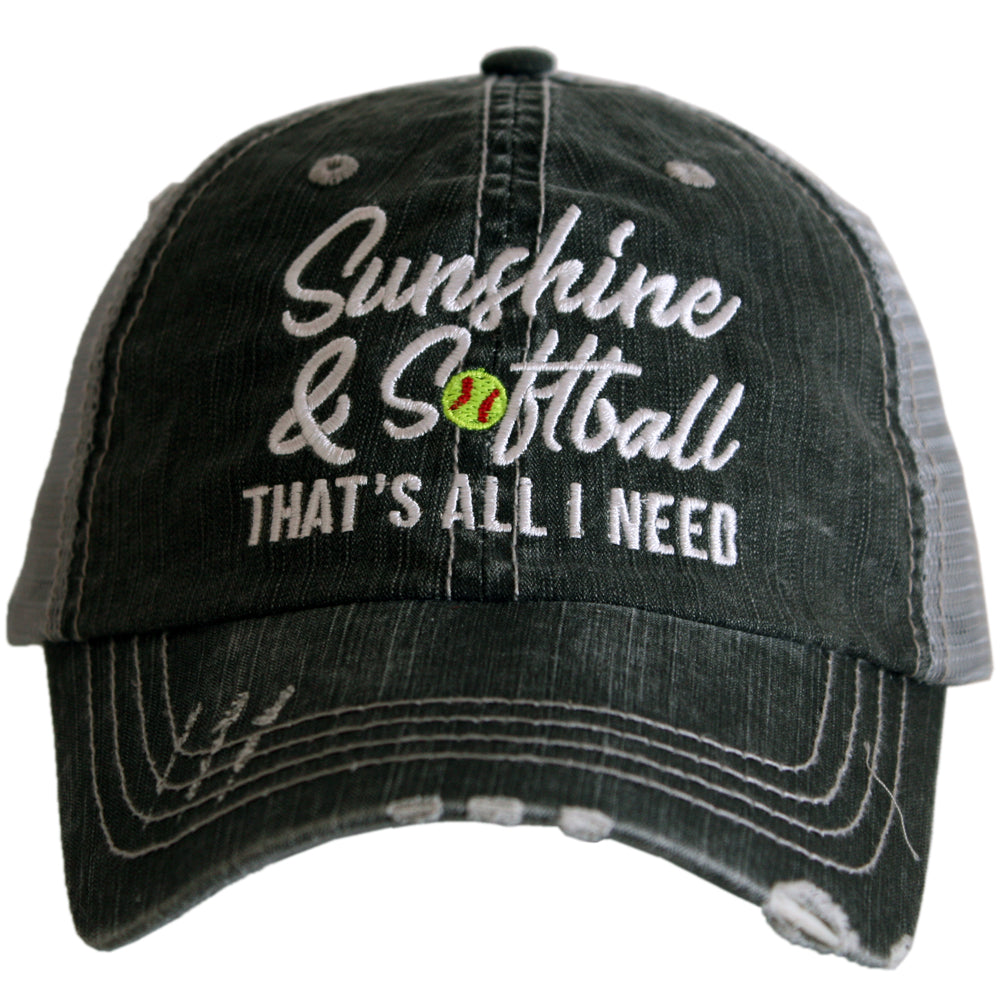 Katydid Sunshine & Softball That's all I need Wholesale Trucker Hats