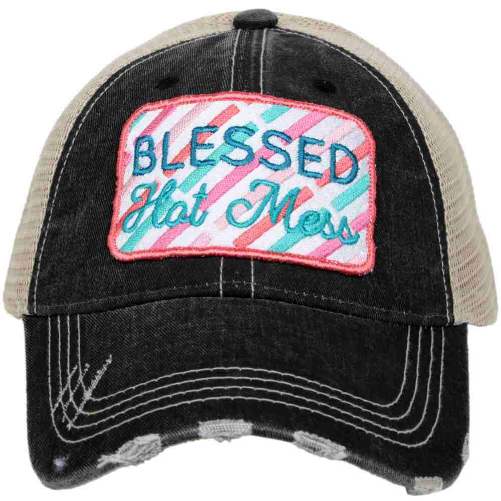 KATYDID BLESSED HOT MESS WHOLESALE TRUCKER HATS
