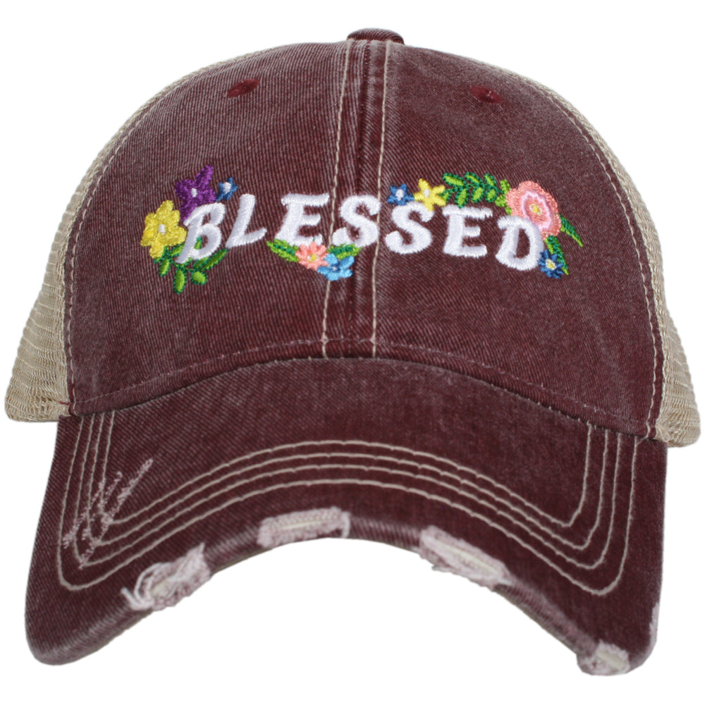 Katydid Blessed w/ FLOWERS Wholesale Trucker Hats