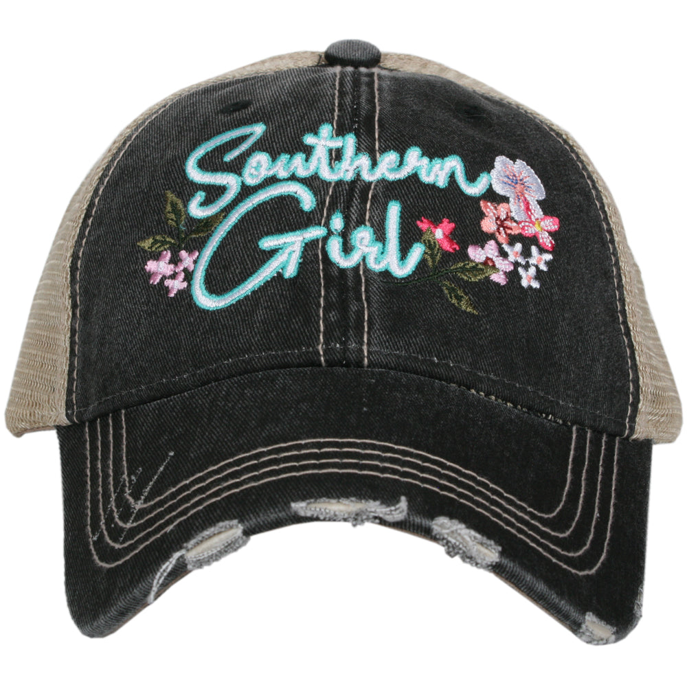 Katydid Southern Girl w/ FLOWERS Wholesale Trucker Hat